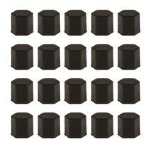 Упаковка из 20 болтов для автомобильных колесных шин Защитная крышка болта гайка колпачок наконечник 17 мм черный