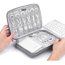 Электронные аксессуары Органайзер сумка дорожный кабель USB зарядное устройство для хранения портативный