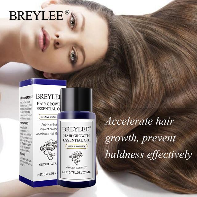 BREYLEE Hair Growth Essential Oil Fast Powerful Hair Prevent Baldness Products Anti-hair Loss Serum Nourishing Hair Care 20ml