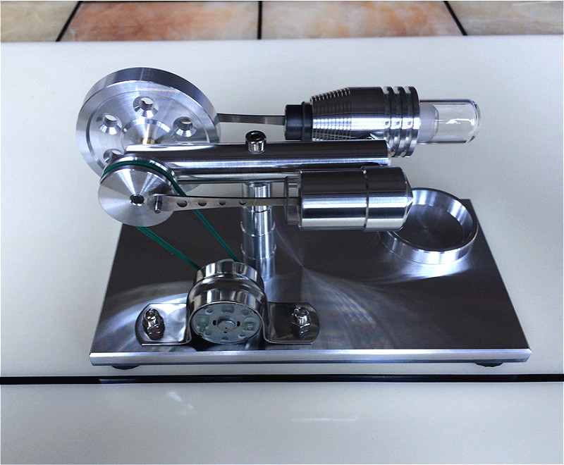 Stryn Engine Model Engine Micro Motor Steam Engine Popular Science Experiment Toy for Gift.