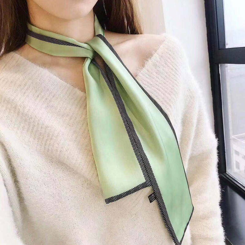 New Design Skinny Scarf Constellation Print Women Silk Scarf Small Handle Bag Ribbons Female Head Scarves & Wraps For Ladies