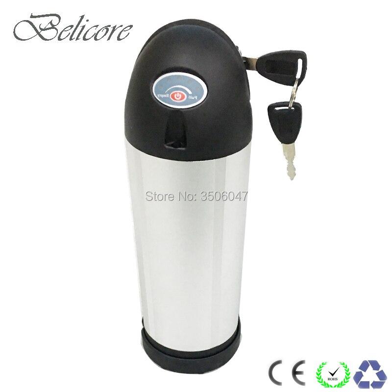 24v 36v 48v garrafa para baixo tubo bateria caso garrafa de água bicicleta elétrica caixa de bateria para senhora bicicleta da cidade