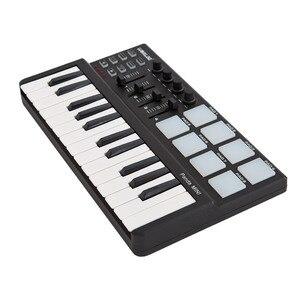 Image 4 - WORLED חדש MIDI מקלדת בקר מיני USB מקלדת שליטת MIDI MIDI בקר מקלדת רפידות 7 סגנונות לאפשרות
