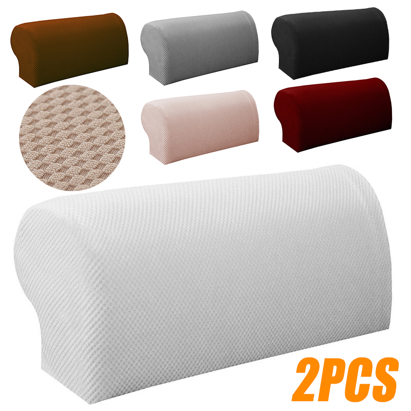 2Pcs Sofa Couch Armrest Covers Arm Chair Protector Sofa ...