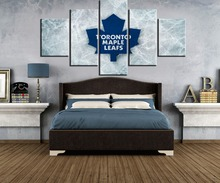 5 Piece HD Print Ice Hockey Leaves Sport Modern Decorative Paintings on Canvas Wall Art for Home Decorations Decor Artwork