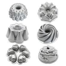 1 шт., литая алюминиевая форма для торта в виде цветка, металлическая форма для выпечки, кухонная посуда, пожизненная гарантия, форма для торта, антипригарная форма для выпечки, посуда