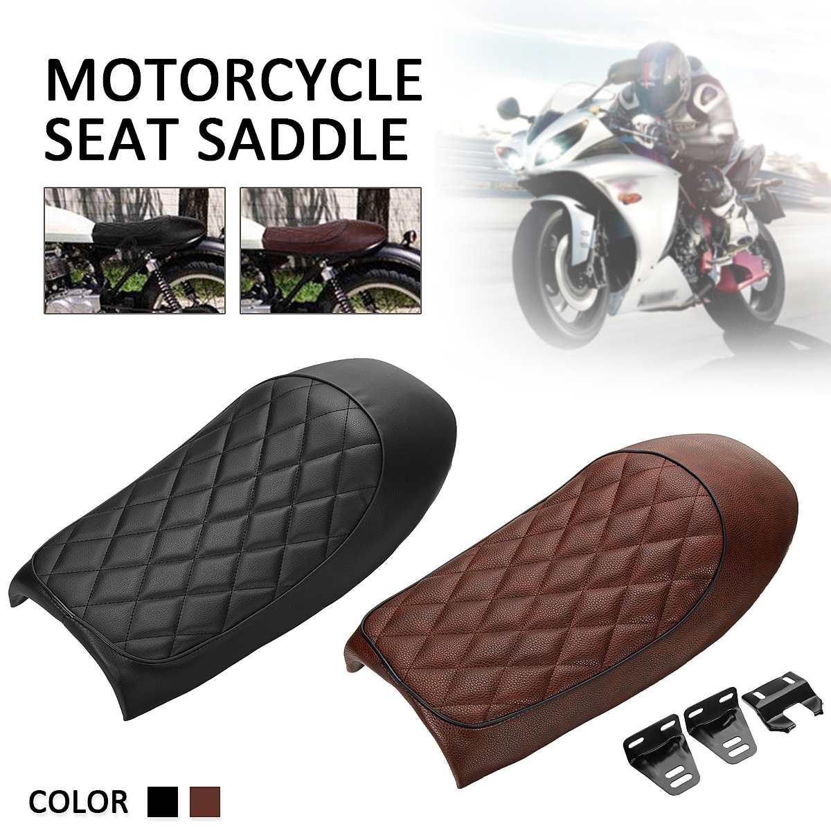 Универсальные подушки сиденья мотоцикла Кафе Racer плоские Brat сиденье горб седло для Honda Для Yamaha для Suzuki