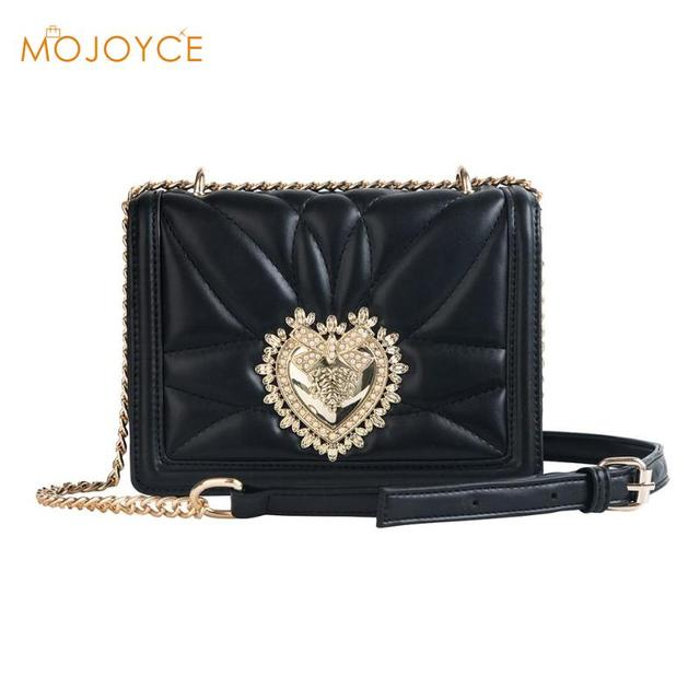 Heart Chain Sling Women Shoulder Bag Ladies Elegant Handbag Fashion Female  Crossbody Bag Girls Purse Messenger Bolsa Feminina 8076536087535