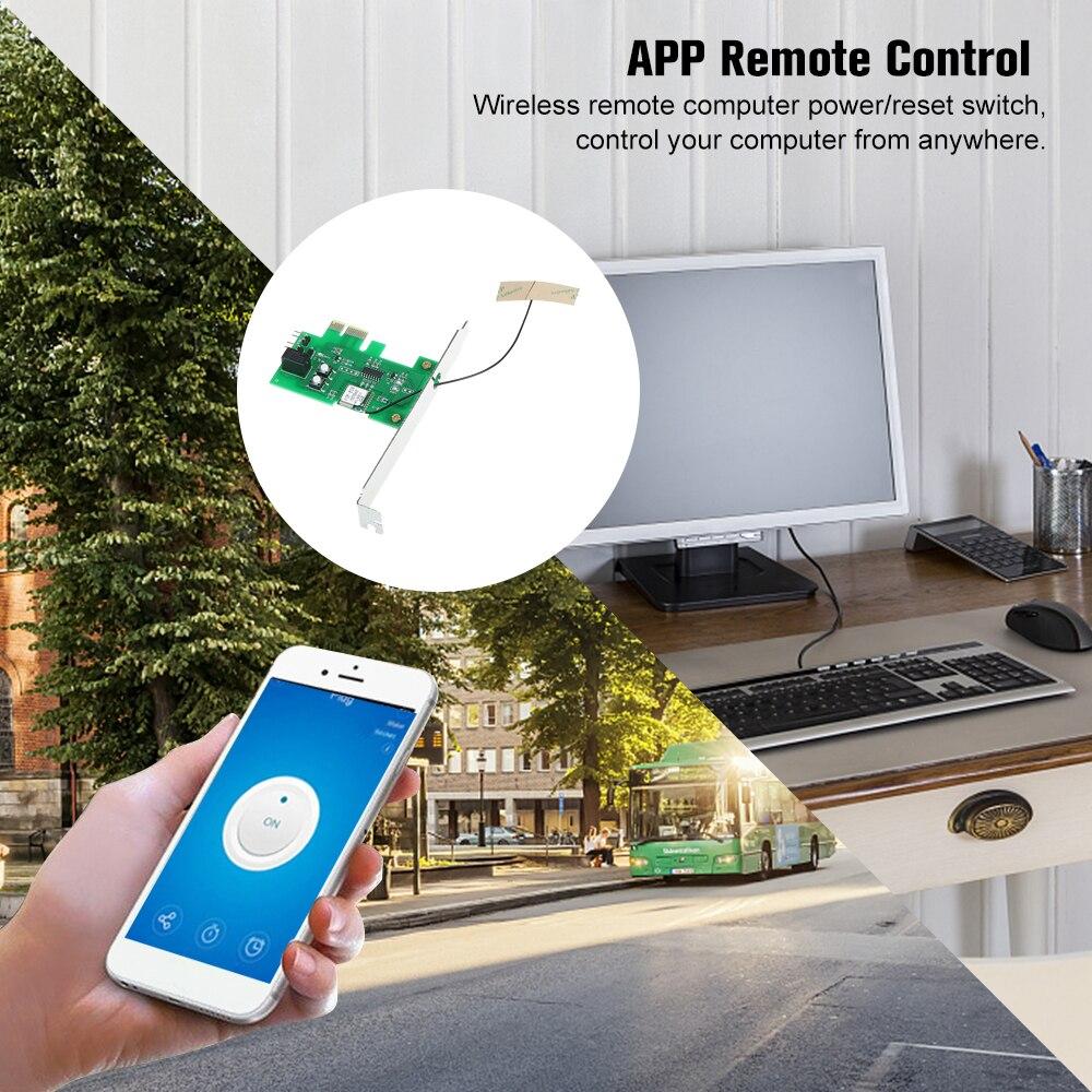 Image 5 - EWeLink Mini PCI e pulpit pc pilot przełącznik karty WiFi bezprzewodowy inteligentny przełącznik moduł przekaźnika bezprzewodowy dla inteligentnego domuAutomatyzacja budynków   -