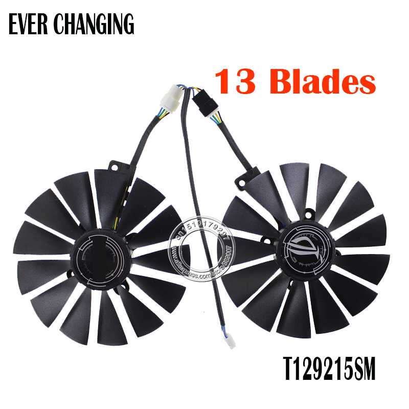 95MM T129215SM 0.25AMP Graphics / Video Card Cooler Fan FOR ASUS DUAL RX580 O8G Graphics Card Cooling Fan