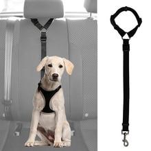 Практичный ремень безопасности для собак, кошек, домашних животных, регулируемый автомобильный ремень безопасности, поводок, дорожный ремень с зажимом