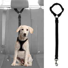 Practical Dog Cat Pet Safety Adjustable Car Seat Belt Harness Leash Travel Clip Strap Lead