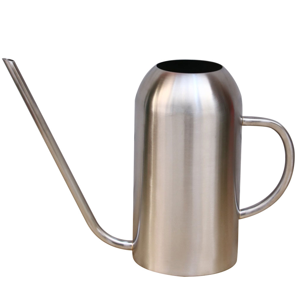 Stainless Steel Watering Pot Gardening Can Long Mouth Flower Kettle 1.5 Liters