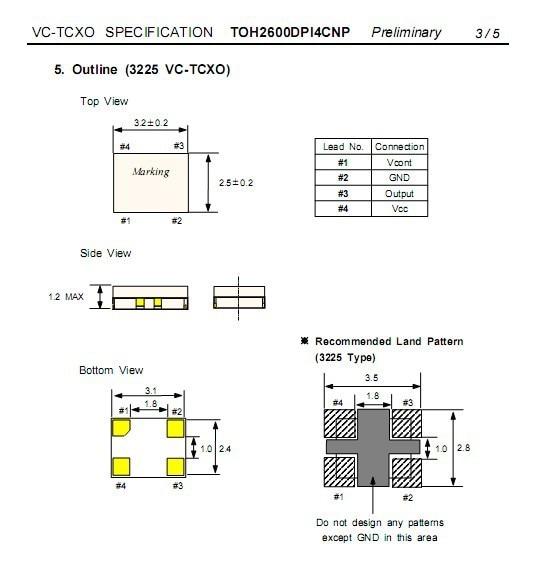 Vc Tcxo 3225 3225mm 32768mhz 32768m Crystal Oscillator X
