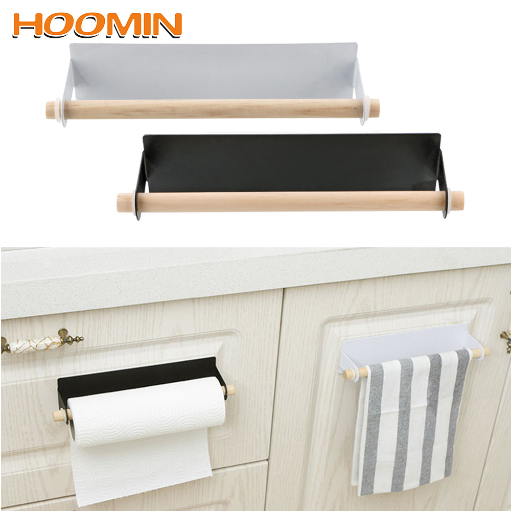 HOOMIN Shelf Wrought Iron Paper Towel Holder Towel Holder Bathroom Hanging Shelf Paper Towel Storage Rack|Storage Holders & Racks| |  - title=