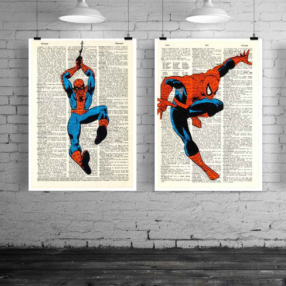Olie Canvas schilderij Superheld foto Superman Batman Cartoon poster - Huisdecoratie
