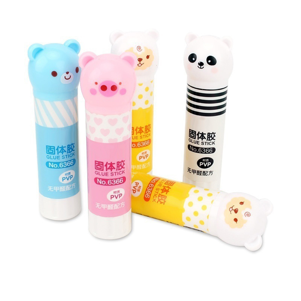 Hot Sell Cartoon Panda Animal Pattern Strong Adhesive Glue Stick Students School Supplies