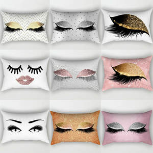 Cases Pillow Hot New Waist-Throw-Cushion-Cover Eyelash Home-Decor Soft-Pattern Polyester