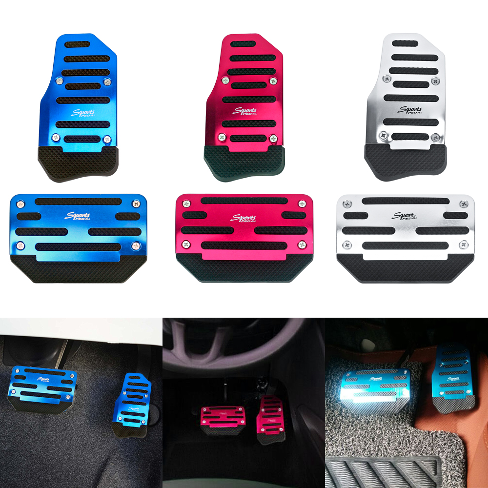 Color Name: MT Red Fastener /& Clip Universal Car Automatic Catch Manual Clutch Throttle Brakes Foot Pedal Pads Cover Non-Slip Aluminum Alloy Car Styling Accessorie