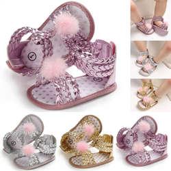 Летние сандалии с мягкой подошвой для новорожденных девочек; летняя обувь для малышей; босоножки с переплетением