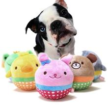 Misterolina Dog Ball Toys Puppy Cat Plush Dogs For Bite Resistant  Animal Designs Chew Squeaker Game cachorro