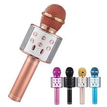 WS-858 Wireless Microphone Professional Condenser Karaoke Mic Bluetooth Stand Radio Mikrofon Studio Recording WS858