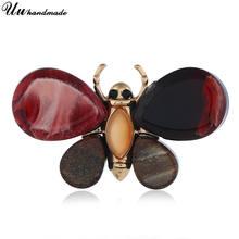 Брошь в виде насекомого бабочки милый хиджаб булавки булавка