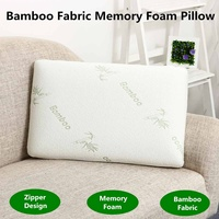 Bamboo Fabric Pillow Memory Foam Filler Pressure Relief Antibacterial&Anti Mite Neck Pillow Slow Rebound Health Care 60x38cm