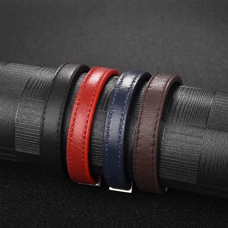 0,4 M 2,5x3,5mm Flache Pu Echtem Leder Seil Schnur Diy Halskette Armband Schmuck Machen Zubehör Erkenntnisse Materialien Um Jeden Preis