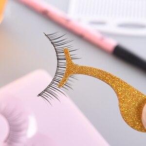 Image 2 - Atacado 100 pces aço inoxidável falso cílios curler pinças aplicador de cílios incluem personalizar seu próprio logotipo rótulo privado