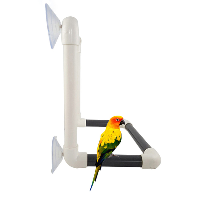 Portable Suction Cup Large Fold Away Shower Perch Bird Toy Travel Parrot Bath Shower Standing Platform Rack Parrot Standing 2