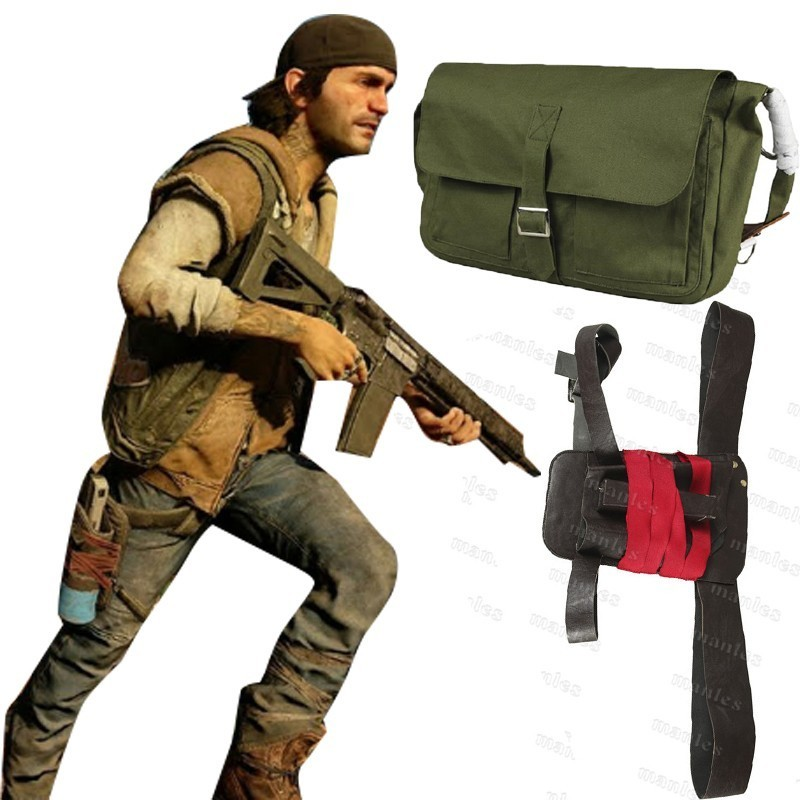 Game Days Gone Costume Deacon St John Bounty Hunter Carnival Adult Halloween Men Bag Belt Holster Accessories Custom Leather Hat