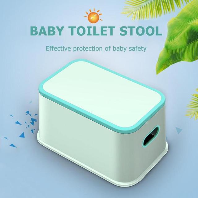 Kids Plastic Multifunction Footstool Baby Toilet Training Anti-skid Anti-Wear Stool Plastic Chair Small Stool 3