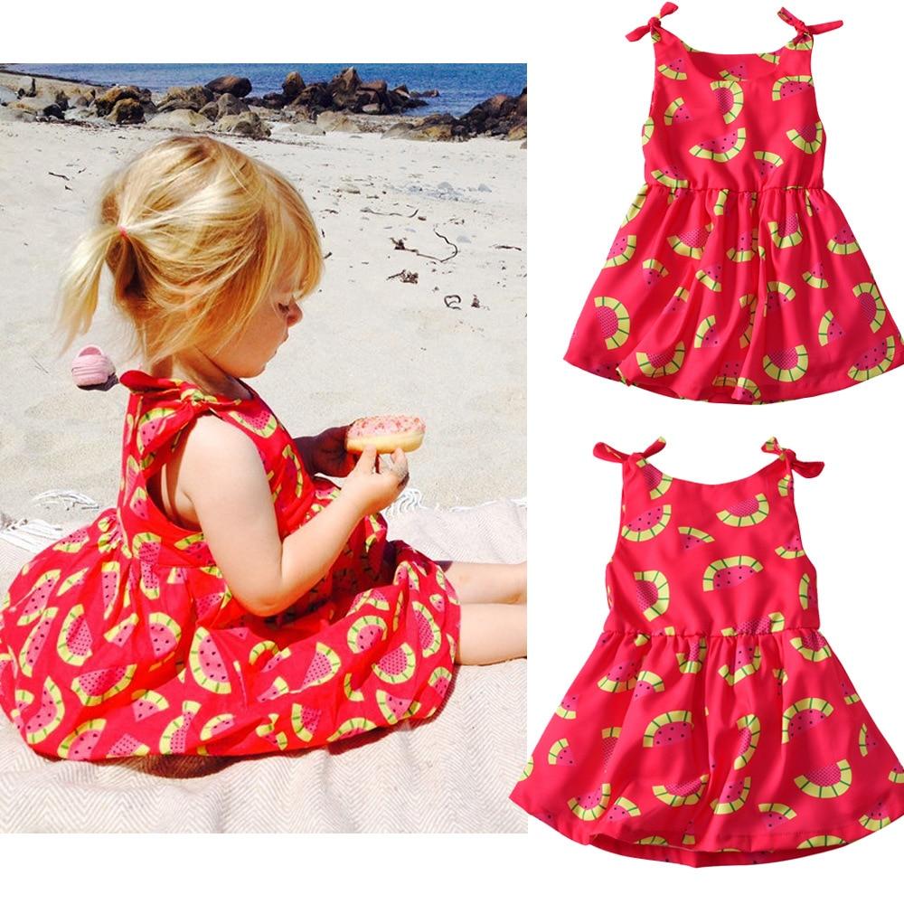 VTOM Summer Baby Girls Dresses Kids Sleeveless Princess Dress Girl Clothes XN32
