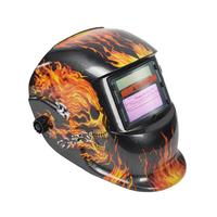 Solar Energy Automatic Changeable Light Darkening Electric Welding Helmet Skull Pattern Welder Grinding Cap Protective Mask Welding Equipment