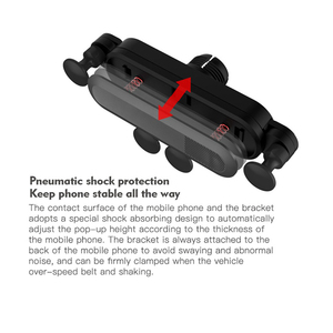Image 2 - הכבידה אוניברסלי סוגר רכב טלפון מחזיק אוויר Vent הר Stand קליפ עבור Smartphone במכונית מחזיק עבור Iphone X Xs מקסימום סמסון G
