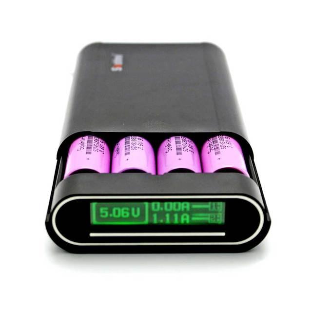 Cep telefonu 4X18650 DIY Pil taşınabilir güç kaynağı kılıfı 5V 2A Çift USB LCD Powerbank Kutusu Taşınabilir DIY pil şarj cihazı Kapağı kabuk