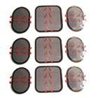 совместимый EMS совместимый обменный блок 3 х 3 комплекта Всего 9 (3 спереди и 6 по бокам) ①