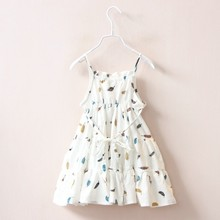 summer girls cotton dress white suspenders fashion baby frock birthday kids dresses for girl clothing holiday children costume недорого