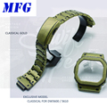MFG Retro Horlogeband GWM5610 DW5600 watchbandWatch Strap & Case bezel Set Metalen Roestvrij Stalen Armband Stalen Riem Accessoires