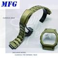 MFG correa de reloj Retro GWM5610 DW5600 correa de reloj y caja de bisel conjunto de pulsera de acero inoxidable de Metal accesorios de cinturón de acero