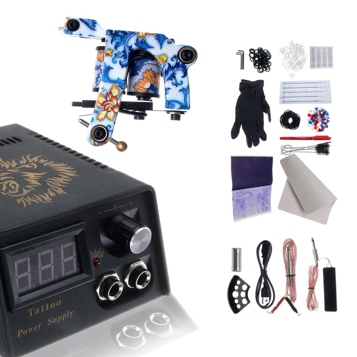 Professional Tattoo Kit 2 Machine for Gun Color Inks Power Supply Complete Tattoo Kits High QualityProfessional Tattoo Kit 2 Machine for Gun Color Inks Power Supply Complete Tattoo Kits High Quality