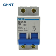 CHINT Circuit Breakers DZ47-60 C60 2P 60A Household Miniature Breaker Cut Off The Fault