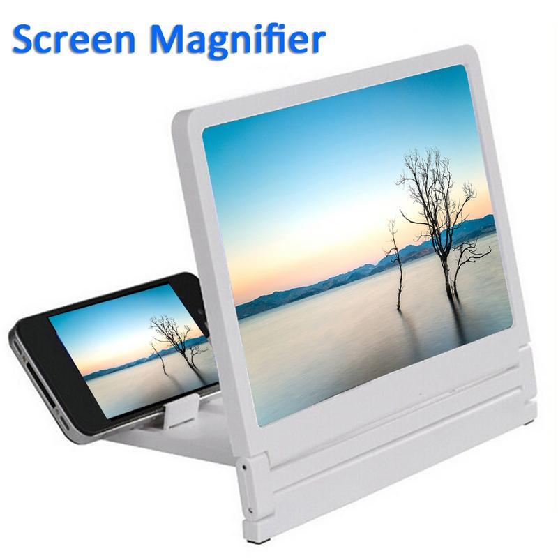 Mobile Phone Screen Magnifier 8.2 Inch Eyes Protection Display 3D Video Screen Amplifier Folding Smart-phone Bracket