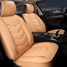 6D Luxury PU Leather Car Seat Covers Universal 5 for Mercedes Benz W203 W210 W211 AMG W204 C E S CLS CLK CLA SLK