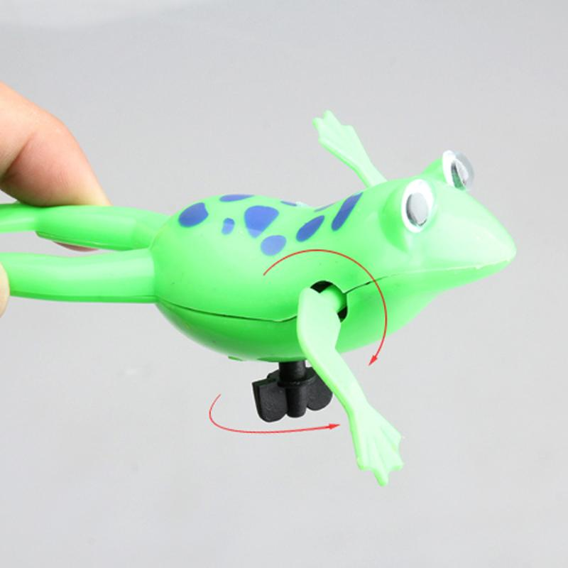 Baby Kids Bath Toy Clockwork Wind Up Plastic Swimming Frog Battery Operated Pool Bath For Kids Baby Funny Bath