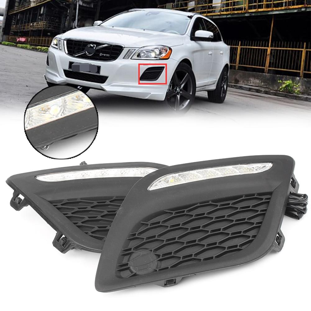 LED blanche feux de jour DRL Kit de feux de brouillard pour Volvo XC60 2011 2012 2013 11 12 13 Auto pièces de voiture accessoires