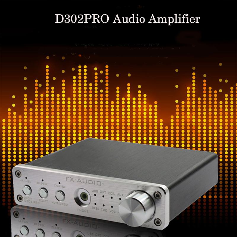 FX audio D302Pro 20W 20W Digital HiFi Amplifier Coaxial Optical USB AUX Headphone Amplifier 15V 4A