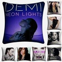 Demi Lovato Sexy Singer Star Decorative Pillow Covers For Sofa Home Decor Linen Cushion Case 45x45cm Throw Almofada