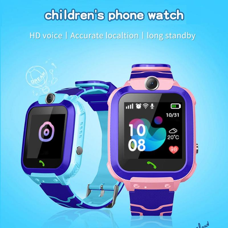 Children's Smart Watch GPS Tracker IP67 Waterproof Fitness Sport Watch Buletooth Remote Camera Alarm Clock For Kids